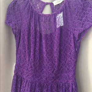 🎉🎉 HP - Purple Crochet Pins & Needles Dress 🎉🎉